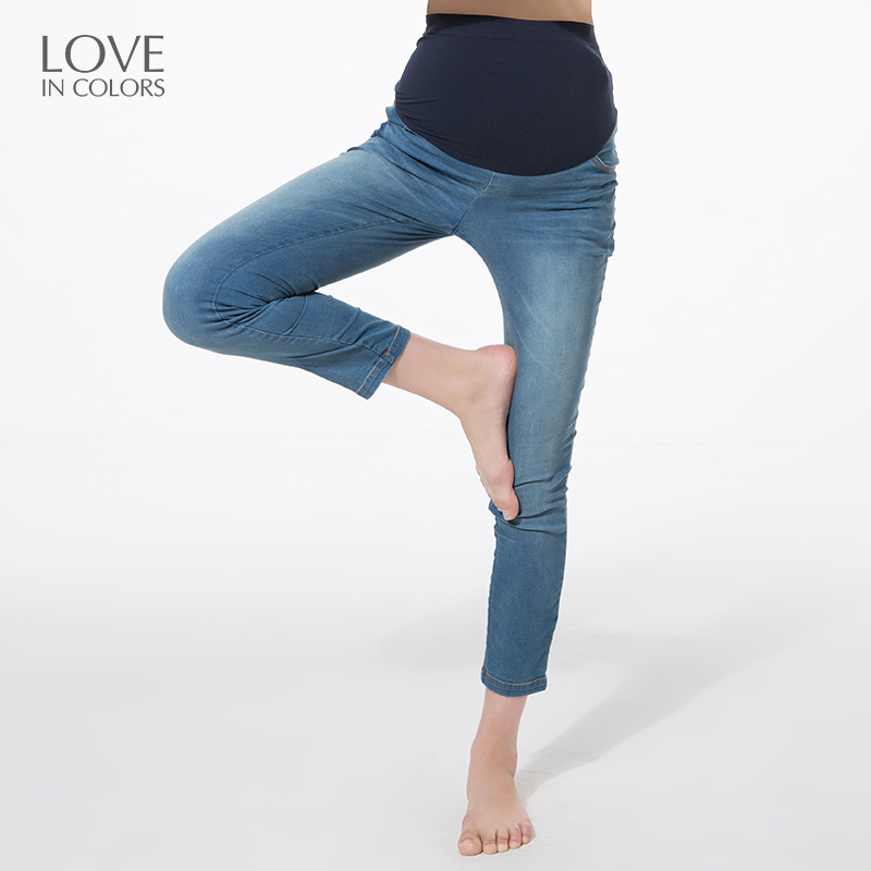 New Fashion Pregnancy Women Jeans For Pregnant Women Support Belly Elasticity Long Clothes Maternity Jeans<br>
