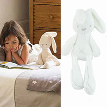 2016 Prmotion toy white cute rabbit soft plush toys baby doll sleeping comfort dolls toys gifts for children interactive doll(China)