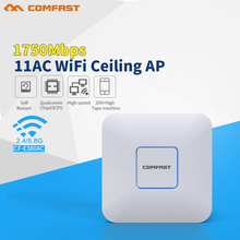 COMFAST 1750Mbps wireless Ceiling AP router 802.11AC Indoor WiFi Access Point AP with Gigabit Ethernet WAN port support openwrt(China)