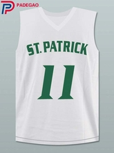 Embroidery Stitched Kyrie Irving 11 St. Patrick High School white Basketball Jersey for fan gift(China)