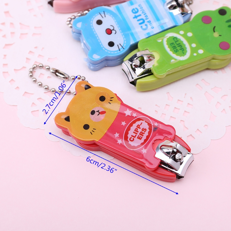 Baby Safety Nail Clippers Scissors Children Cartoon Cutter Infant Fingers Care