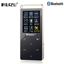 Original RUIZU D01 Metal HIFI Bluetooth MP3 Player Touch Screen 8GB Play 100hours high quality Lossless Sound Music Player(China)