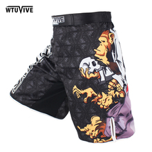 SUOTF MMA boxing sports fitness personality breathable loose large size shorts Thai fist pants running fights cheap mma shorts