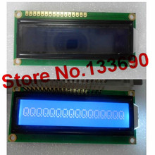 10pcs/lot 16x1 1601 lcd display module 16*1 character lcd white backlight 5V 80*36mm hd44780/ks0066/SPLC780C blue lcd display