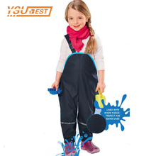 New Children Rain Pants Waterproof Trousers Padded Boys Windproof Outdoor Girls Piece Skiing Overalls Ski suit Outdoor Pants(China)