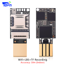 TOPIN ZX618 PCB Wifi LBS GSM Mini Tracker Tracking TF Card Voice Recording Indoor Accuarcy 10m Locator 20*13mm Voice Monitoring(China)