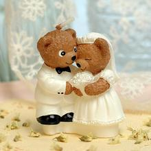 Romantic Wedding Candle Teddy Bear Scented Birthday Weddings Candles Flameless Candles For Children Gifts Birthday Decoration(China)