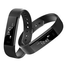 ID115 Bluetooth 4.0 Smart Bracelet Heart rate Monitor Fitness Tracker Smart Band Vibration Alarm Wristband for iOS Android phone