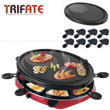 Double Layers Smokeless Electric Pan Grill BBQ Grill Raclette Grill Electric Griddle(China)