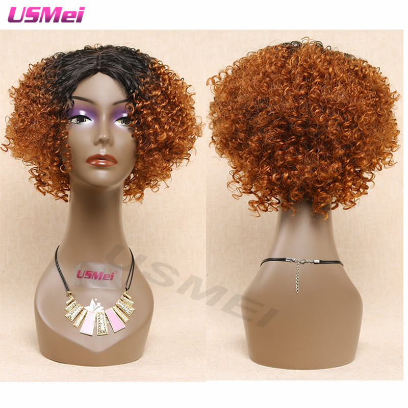 sexy kinky twist wig short brown ombre wigs for women diabolik lovers curly wig anime cosplay synthetic wigs  peruca sintetica<br><br>Aliexpress