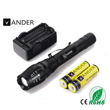 VANDER 20000 lumens Light XM-L T6 LED Flash Light LED Flashlight Torch Lamp Light For Hunting Camping +18650 Battery/Charger