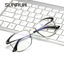 SUNRUN Retro High Quality Glasses Frame Men Women Clear Lens Glasses Metal Square Frame Optics Myopia Eyeglasses Femme 5311(China)