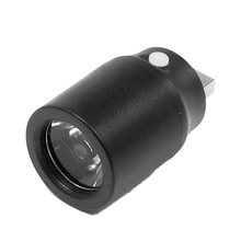 THGS Black Plastic White Light Press Button USB LED Lamp Torch