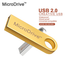 Micro Drive Metal Silver/Gold/Black/Pink USB2.0 pendrive 64GB/32GB/16GB/8GB/4GB usb flash drive memory disk(China)