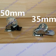 1.375 inches / 2 inches high quality  omni-directional furniture caster with brake/transparent wheel/silent wheel