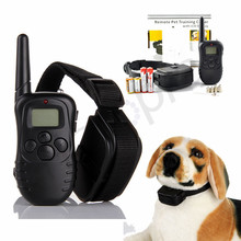 Heropie Waterproof Remote Control electric dog collar training trainer with 100 LV of Vibration and Static Shock Pet Trainning(China)