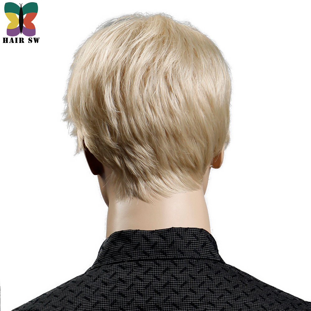Yiyaobess-6inch-Heat-Resistant-Synthetic-Short-Blonde-Wig-Natural-Hair-Men-Straight-hairStyles