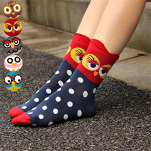 New arrival women lovely cartoon socks autumn-winter animal crazy soks lady and women's cotton funny socks girl(China)