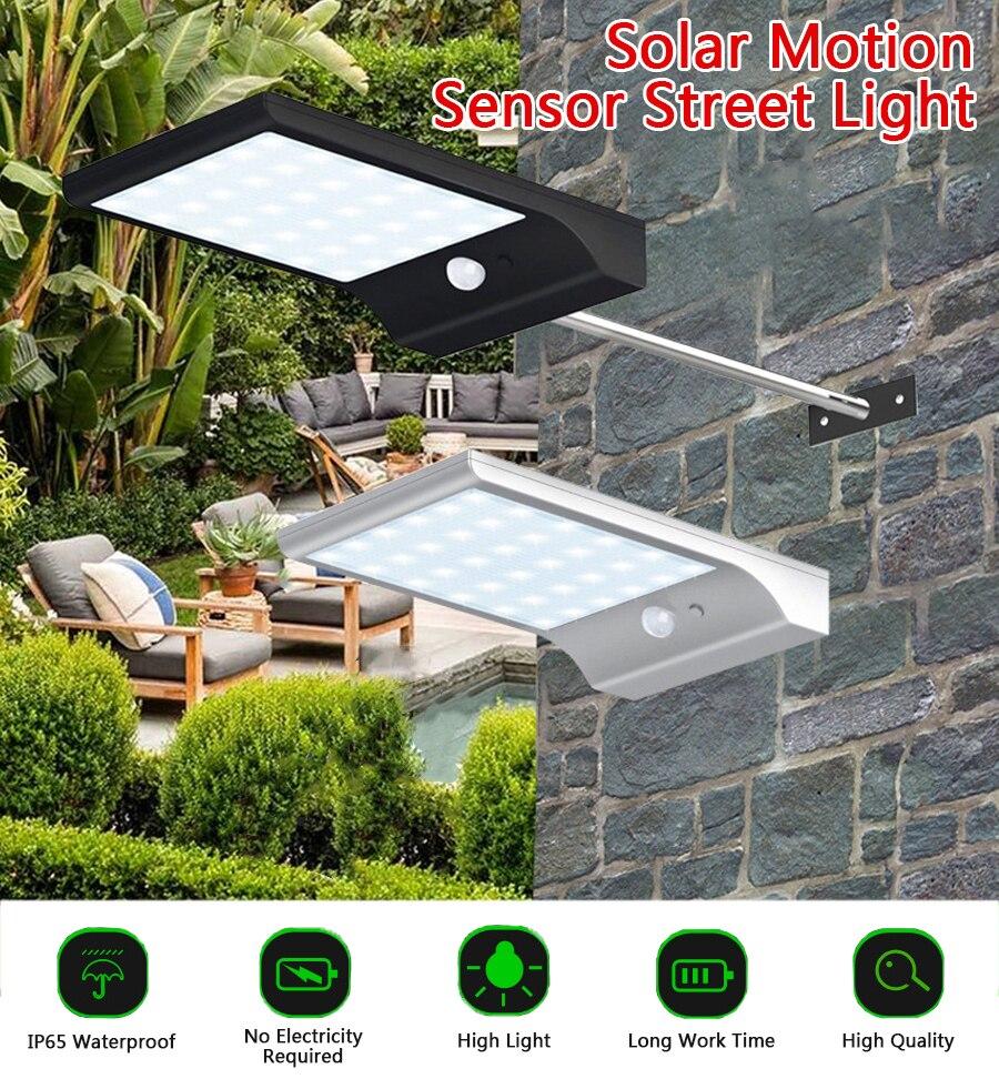 36 LED Solar Power Street Light PIR Motion Sensor Lamps Outdoor Street Waterproof Wall Light 450LM Garden Security Lamp