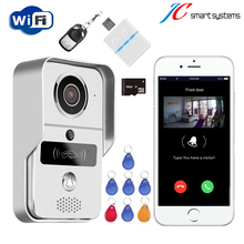 2017 new RFID intercom system WiFi wireless video door phone Push photo to cell phone and record video for access control secure