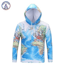 Mr.BaoLong New Fashion Long Sleeve Hooded T Shirt Men Print Maps 3D T-Shirt Hip Hop Couples Hoody Pullover Tops Tees(China)