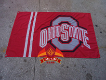 O State Logo flag ,Ohio State Brand,100% Polyester 90x150cm exhibit and sell banner, exhibition and spot sale flag(China)