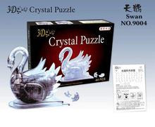 Candice guo! New arrival hot sale 3D crystal puzzle white gray swan model fitted DIY funny game creative gift 1pc