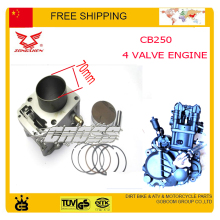 zongshen 4 valve 250cc water cooled engine Piston ring pin cylinder block gasket 70mm cb250 accessories free shipping