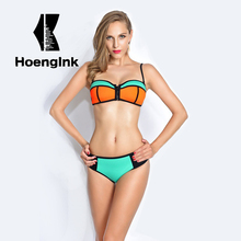 BRANDMAN New Orange Green Combination Swimsuit Swimsuit Zipper Style, Quick-drying Fabric Swimsuit Feel Smooth and Bright Colors(China)