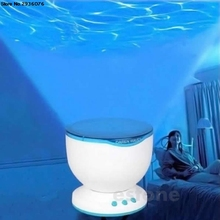New Led Night Light Projector Ocean Daren Waves Projector Projection Lamp 2017(China)