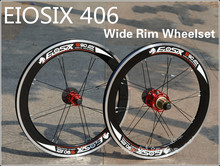 EIOSIX BMX Wheelset 406 20inch Folding Bike Wheel S90 Wide Rims 120ring 8-11 speed BMX Parts