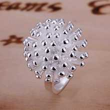 2017 New silver plated Engagement rings Fireworks flowers finger ring for women &men size 6 7 8 9 10 anillos to.us bear