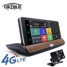 "7"" 4G Car Camera DVR Rear view Android 5.0 GPS Bluetooth FM WIFI Dual Lens rearview mirror Camcorder Dash cam dvrs"