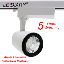 LEDIARY 10PCS/Lot LED Track Lamp 15W Aluminum COB Ceiling Lamp 2-Wire Rail Spot Lights 220V Track Light for Office/Clothes Shop