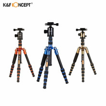 K&F CONCEPT TM2235 Professional Portable Travel Aluminium Mini Tripod Adjustable Height Accessories for DSLR Camera Three Color