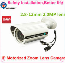 "Safety Installation IPC Motorized Zoom Auto 2.8-12mm LENs 2.0MP 1/2.8"" SONY CMOS IMX322 +Hi3516 CCTV IP camera module board"