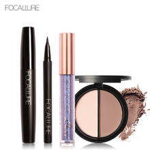 Focallure Makeup Set Gift Daily Use Highlighter and Bronzer Power Diamond sexy Lip Gloss Mascara Eyeliner Beautry Makeup