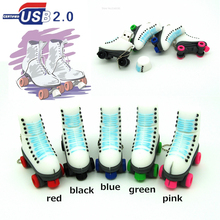 2016 new design Roller Skates Shoes Pen drive 4g 8g 16g 32g usb flash drive memory stick storage device fashion gift 5 colors