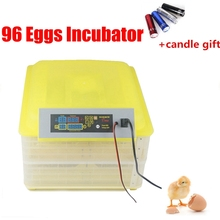 hot sale full automatic poultry egg incubator 96 chicken egg hatching machine 12V and 220V available(China)