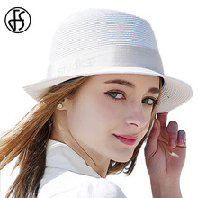 100% Paper Straw Hat 2017 Sumemr Sun Visor Jazz Style Panama Hat For Woman White Beach Cap Cool Female Sun Caps Boater