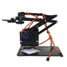 4DOF Assembling Acrylic Mechine Robot Arm with SG90 Plastic Gear Servo For Robot DIY(China)