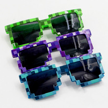 3 Color Minecraft Sunglasses Kids Cosplay Action Figure Game Toys Square Glasses Gifts for Children Brinquedos #F(China)