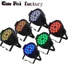 6 Pack Alibaba/Alixpress Stage Light Par Can 18x12w RGBW 4in1 Led Par