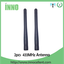 Free shipping 2pcs lot 433MHz antenna, rubber antenna, SMA straight connector for wireless communication