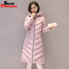 SNOW PINNACLE 2017 Women Winter Jacket Long Casual Female Warm Thicken Hooded jacket coat Cotton Padded coat Plus size(China)