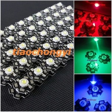 Hot 100 pcs 1W 3W High Power red green Blue Royal  blue LED with 20mm star PCB