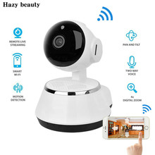 New ! Pan Tilt Wireless IP Camera WIFI 720P CCTV Home Security Cam Micro SD Slot Support Microphone & P2P Free APP ABS Plastic(China)