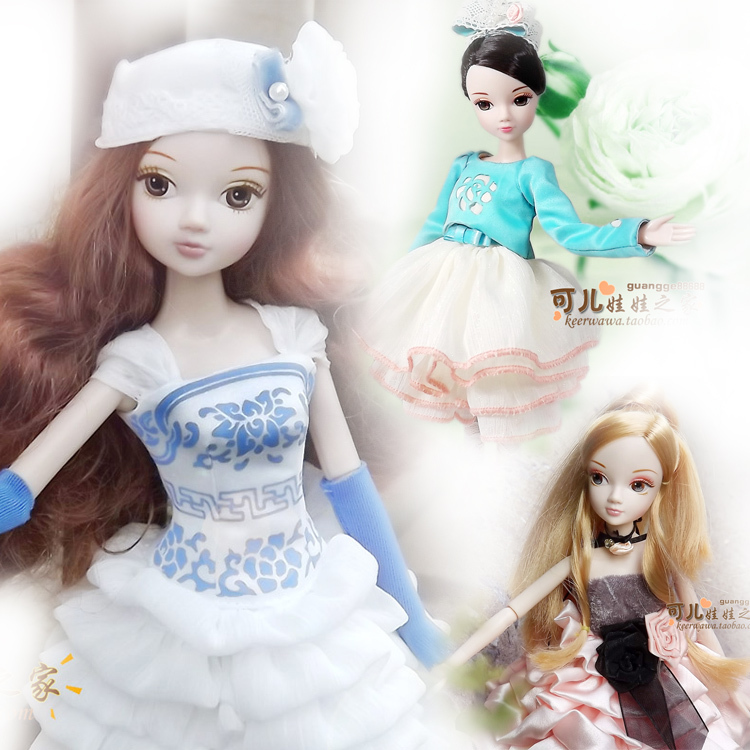 Free shipping fashion dolls 14 movable joints doll Exquisite beautiful girl toys 28cm Chinese style doll With bracket<br><br>Aliexpress