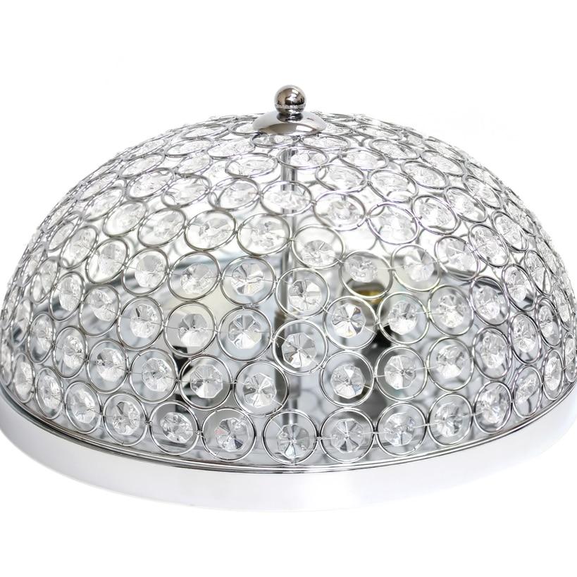 Elegant Designs 2 Light Elipse Crystal Flush Mount Ceiling Light - Chrome (3)