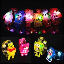 12pcs/lot Cartoon luminous toy bracelet colorful rgb light up toys for holiday party concert,cat/butterfly/bear wrist band